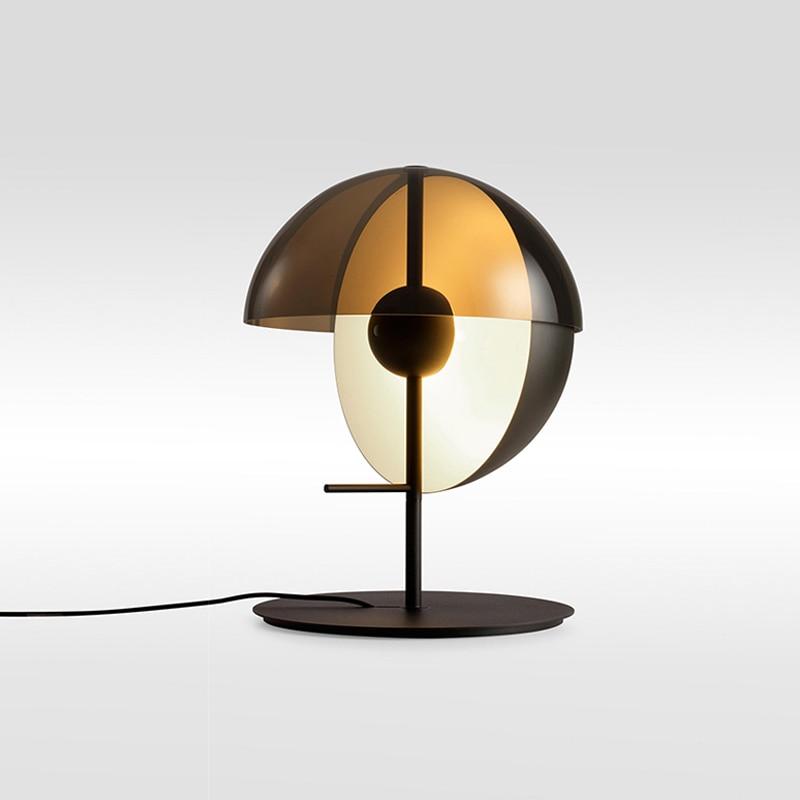 Пост современный дизайнерский черный/белый металлический стеклянный светодио дный светодиодный настольный светильник для гостиной крова