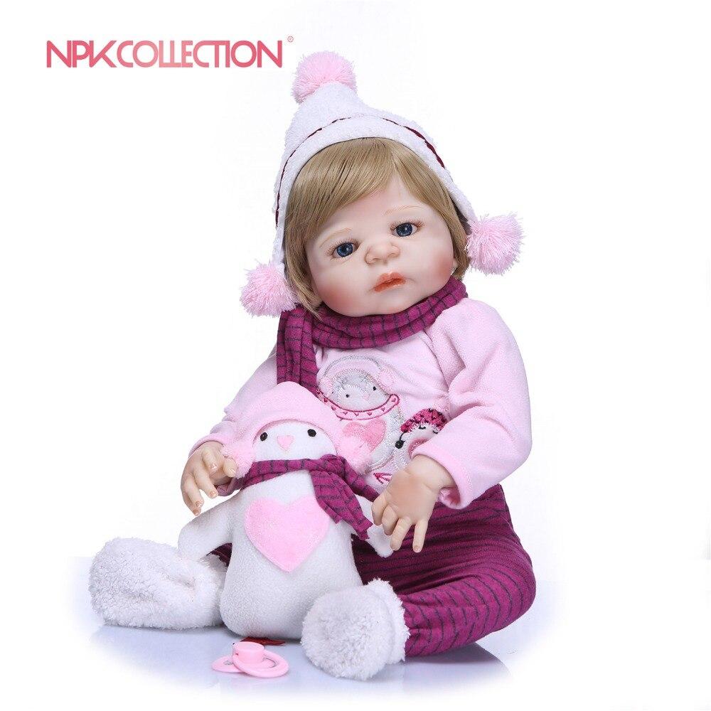 NPKCOLLECTION 23 ''リボーンフルシリコーン人形姫 Realistia 人形 57 センチ風呂のおもちゃリアルなベビードール女の子  グループ上の おもちゃ & ホビー からの 人形 の中 1