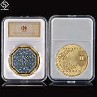 Festival de Ramadán musulmán de Arabia Saudita, 1 onza, moneda de oro conmemorativa, para rezar