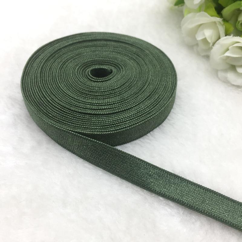 "Cinta de Spandex verde oscuro de 5 yds de 3/8 "", banda elástica multifunción para coser lazos, accesorios para el cabello, accesorios para la cintura, accesorios para prendas de vestir"