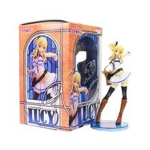 20cm Fairy Tail Figure Toy Lucy Heartfilia Anime modello da collezione bambole regalo per bambini