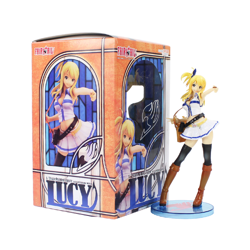 20cm Fairy Tail Lucy Figure Toy Lucy Heartfilia Anime Collectible Model Toy Gift for Kids japanese anime figure fairy tail lucy heartfilia sexy cast off girl cosplay pvc action figures toys collectible model toy