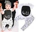 Muchachas de Los bebés Arropa los Sistemas Lindos de la Historieta Carta Trajes Recién Nacido Camiseta + Pantalones Vetement Enfant Fille Garcon
