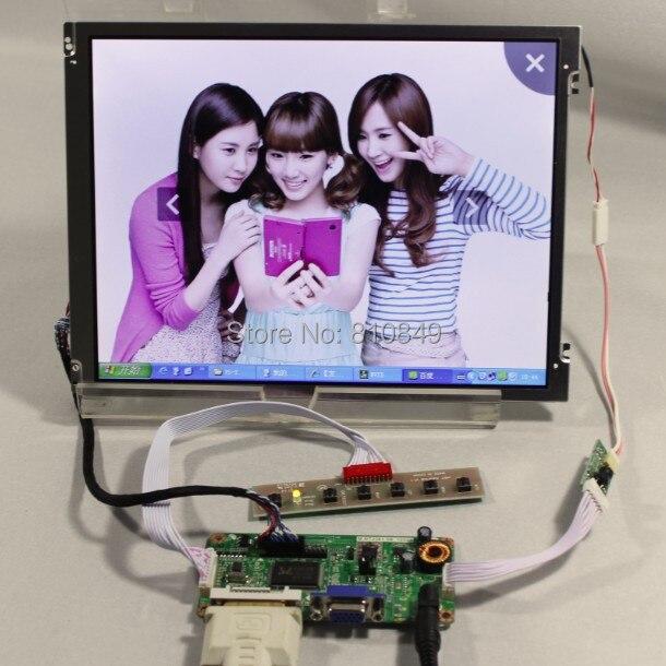 DVI+VGA driver board+10.4inch 800*600 Led backlight lcd replace G104SN03 V1 vga 2av revering driver board 8inch 800 600 lcd panel ej080na 05b at080tn52