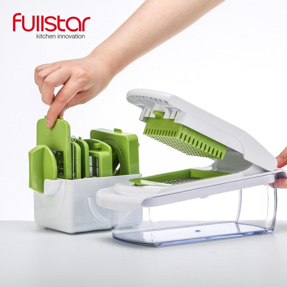 Accesorio de cocina mandolina Slicer cuchillo comida rellenó vegetal cortador pelador de la máquina de cortar rallador de herramienta de cocina con 7 cortar cuchillas