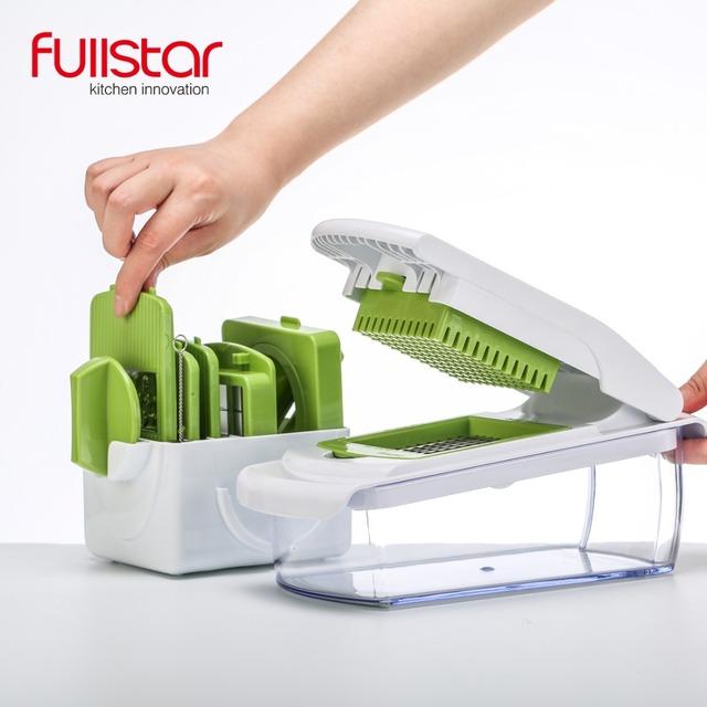 Mandoline Slicer knife Food Chopper, Vegetable Cutter Peeler, Slicer,Grater kitchen tool with 7 Dicing Blades