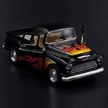 Alta simulação requintado diecasts & veículos de brinquedo kinsmart estilo do carro ford 1955 chevrolet stepside captador 1:36 modelo liga