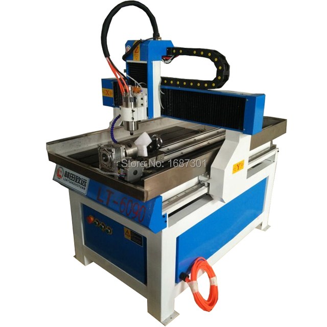 LINTCNC Jinan factory supply wood carving 6090 cnc machine with T-slot working table homemade cnc router kit