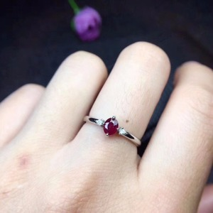 Image 2 - New shop promotion natural ruby lady ring color good 925 Silver Mosaic explosion recommended