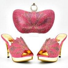 1bc061da26d999 4 pouces fushia rose chaussures pantoufles femmes avec correspondant embrayages  sac taille 37 à 42 sur les ventes chaussures et .