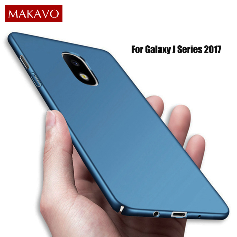 Galleria fotografica MAKAVO Cover For Samsung Galaxy J5 2017 Case 360 Protection Hard Matte Back Phone Cases For Samsung J3 J7 2017 J330 J730 Pro