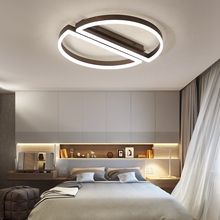 New Design Brown Modern ceiling lights Creative Aluminum LED livingroom fixtures bedroom lamp Novelty lamparas de techo