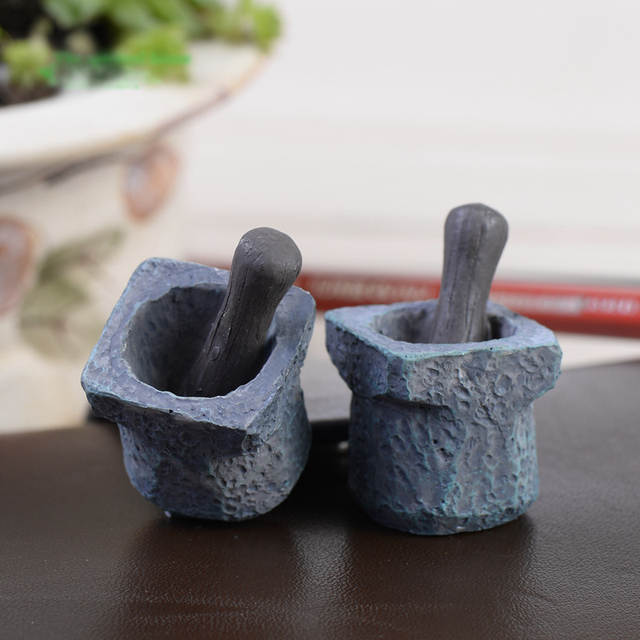 US $1 78 11% OFF Artificial Vintage Mortar Bowl Miniature Fairy Garden Home  Houses Decoration Mini Craft Micro Landscaping Decor DIY Accessories-in