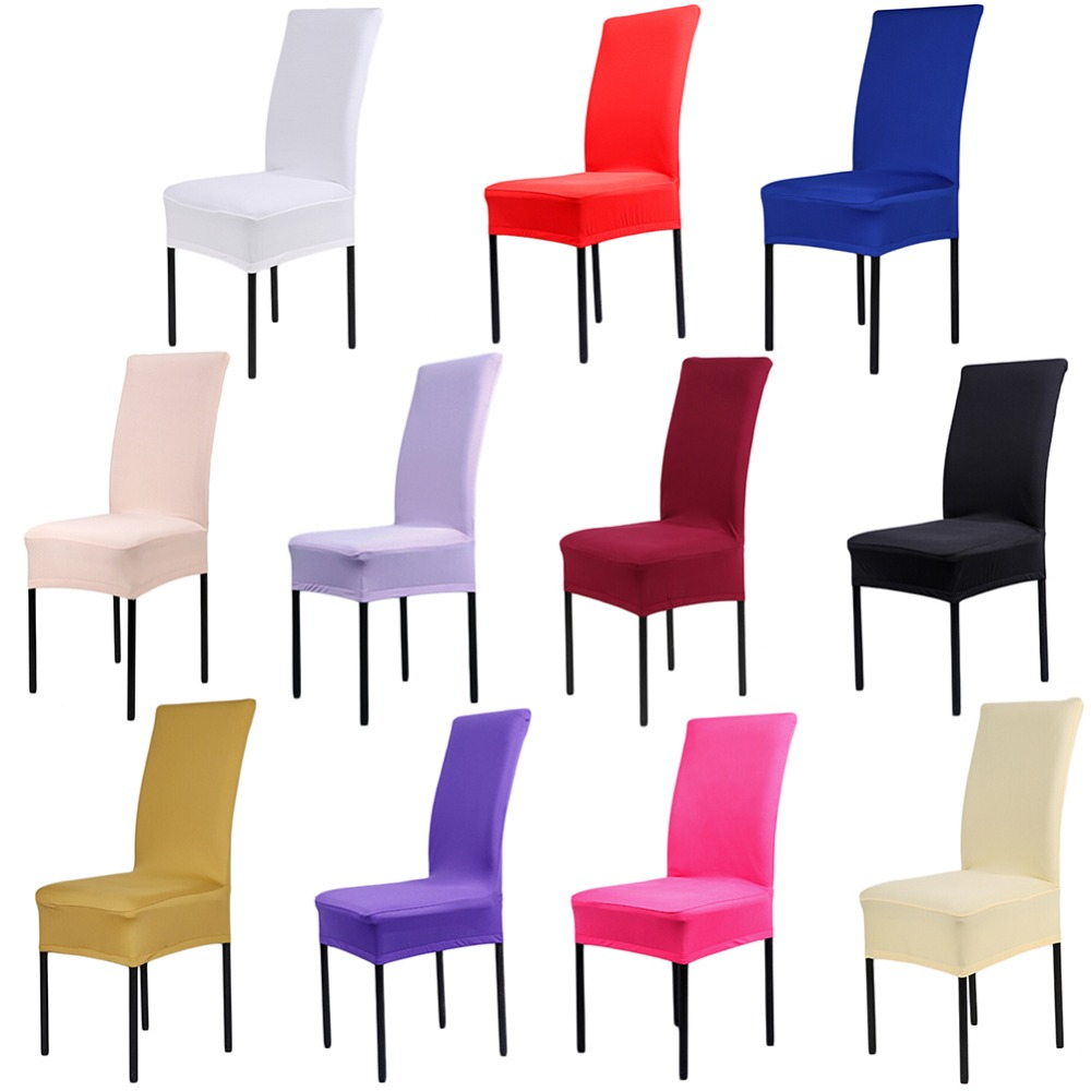 Dining Room Chair Bottom Covers Silver Lounge Seat Wholesale 11 Colors Polyester Spandex For Wedding ...
