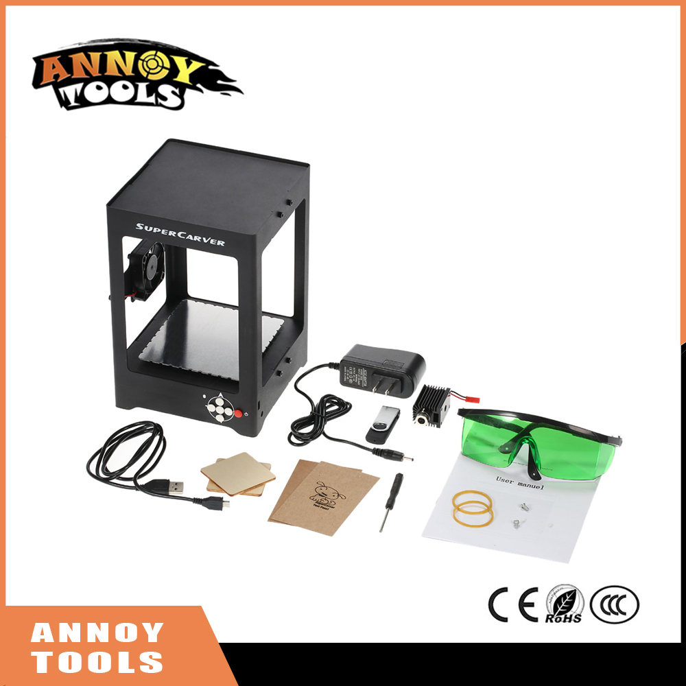 1000mW Mini laser Engraving Machine DIY Print Engraver cnc router Automatic laser cutter Off-line Operation + Protective Glasses 1000mw high speed mini laser cutter usb laser engraver cnc router automatic diy engraving machine off line operation glasses