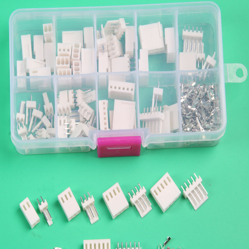 35 sets Kit in box 2p 3p 4p 5 pin 6pin 2.54mm Pitch Terminal / Housing / Pin Header Connector Wire Connector Adaptor kf2510 Kits