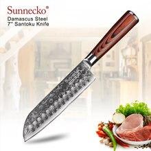 Нож сантоку sunnecko vg10 японский шеф повар из дамасской стали