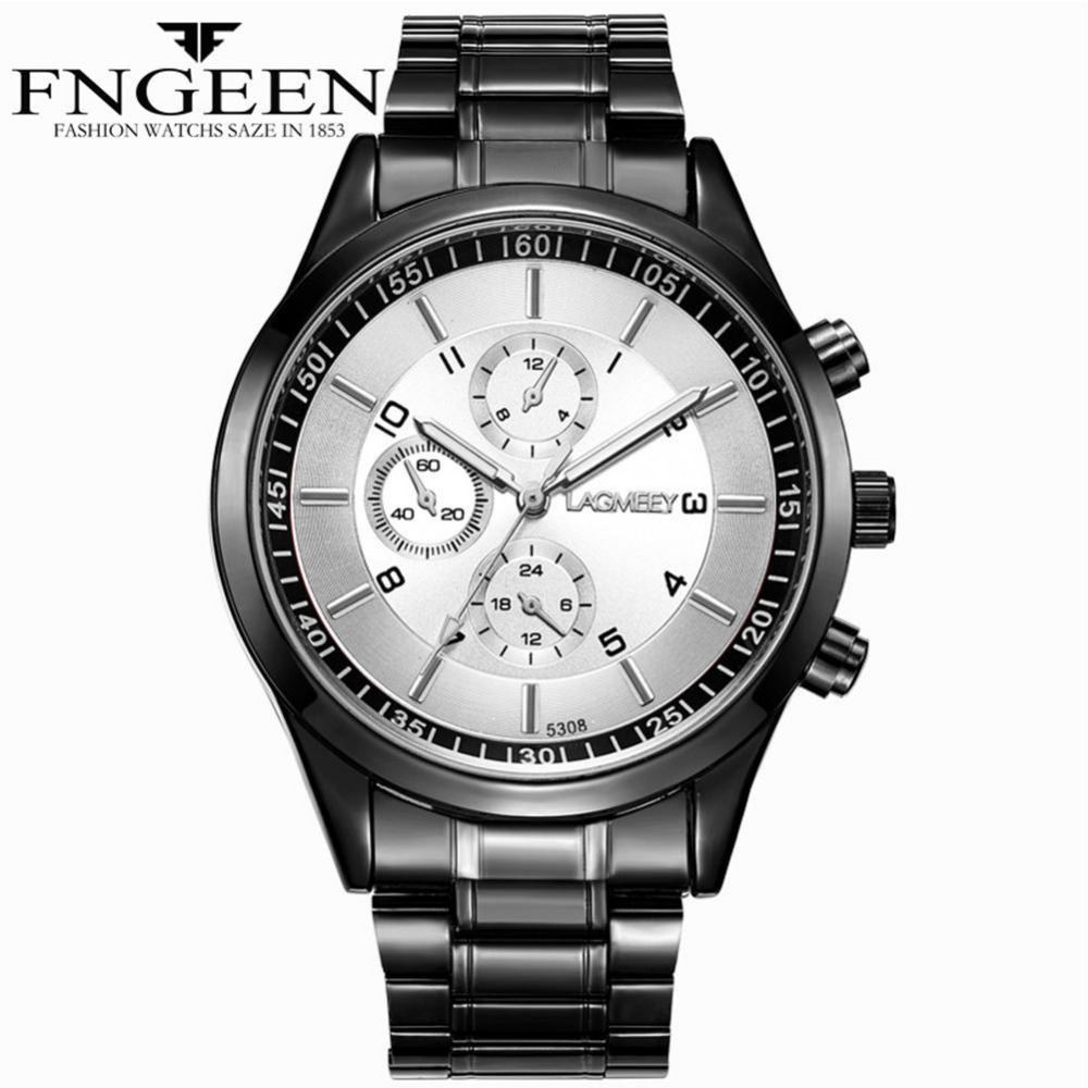 FNGEEN Men's Fashion Casual Sport Watches Men Waterproof Leather Quartz Watch Man Stainless military Clock Relogio Masculino 2017 new top fashion time limited relogio masculino mans watches sale sport watch blacl waterproof case quartz man wristwatches