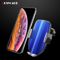 Fast QI Wireless Car Charger Holder for iPhone Samsung Huawei Xiaomi 15W Fast Airvent Mount Phone Holder Wireless Charger