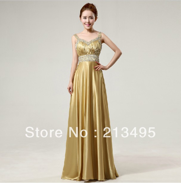 female fashion sexy long formal gold sequins gowns for evening ...