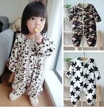 Winter Fleece Pajamas cute children kids soft warm sleepwear boy girl sleeping Clothes