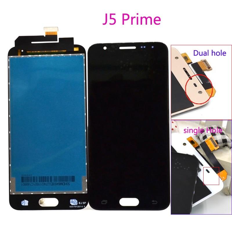 5 pouces D'origine Affichage Pour Samsung J5 Premier LCD On5 2016 G570F/DS G570M écran LCD numériseur à écran tactile pièces d'assemblage
