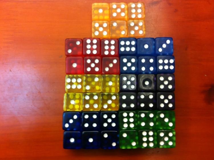 16MM γωνία διαφανή ζάρια εμφανίστηκε, 16 # ζάρια, η καλύτερη χρήση της διακόσμησης, συνεγκατάσταση, επιτραπέζιο παιχνίδι, ζάρια παιχνίδι
