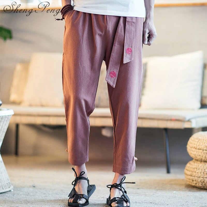 Китайский магазин одежды китайский традиционный мужская одежда Брюс Ли Штаны wing chun кунг-фу форма CC420
