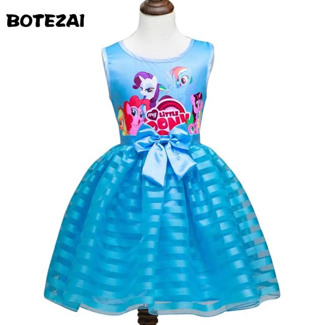 2016 New Summer Girls Clothing Little Pony sleeveless girl dress roupas infantis menina ropa de ninas vestido infantil