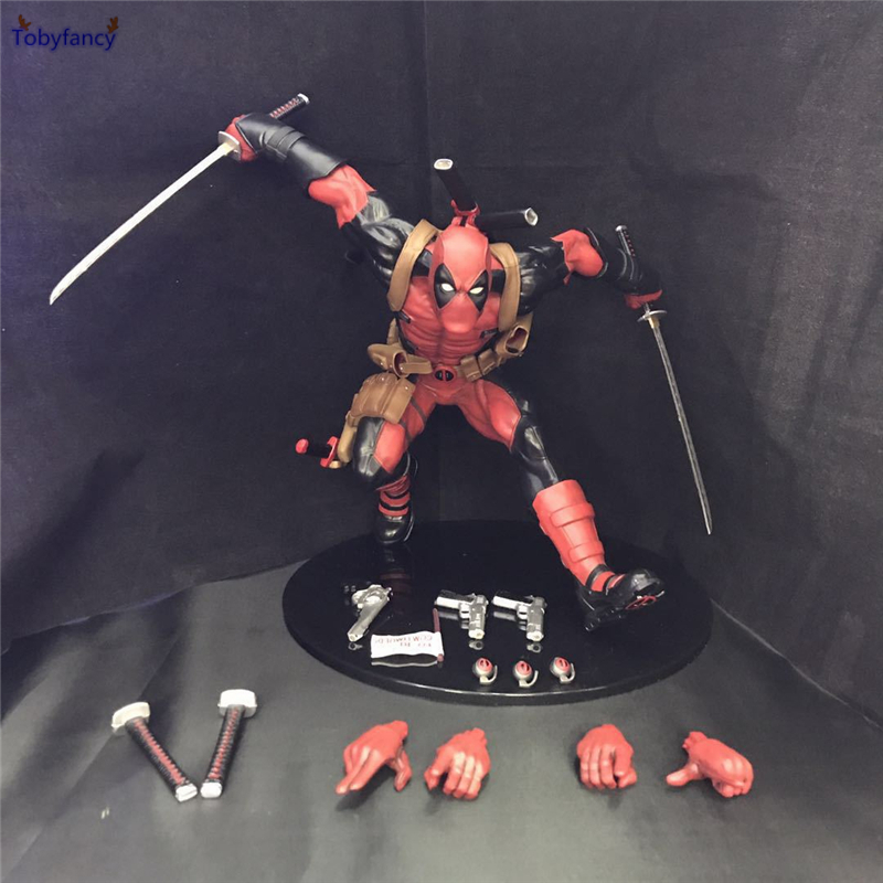 Tobyfancy X-men Movie Deadpool 1/6 Scale PVC Statue Figure Deadpool Running Action Figure Model Toy lyc fog light universal led for car lights car led driving lamps daytime running light switch automatic for toyota drl led lamp
