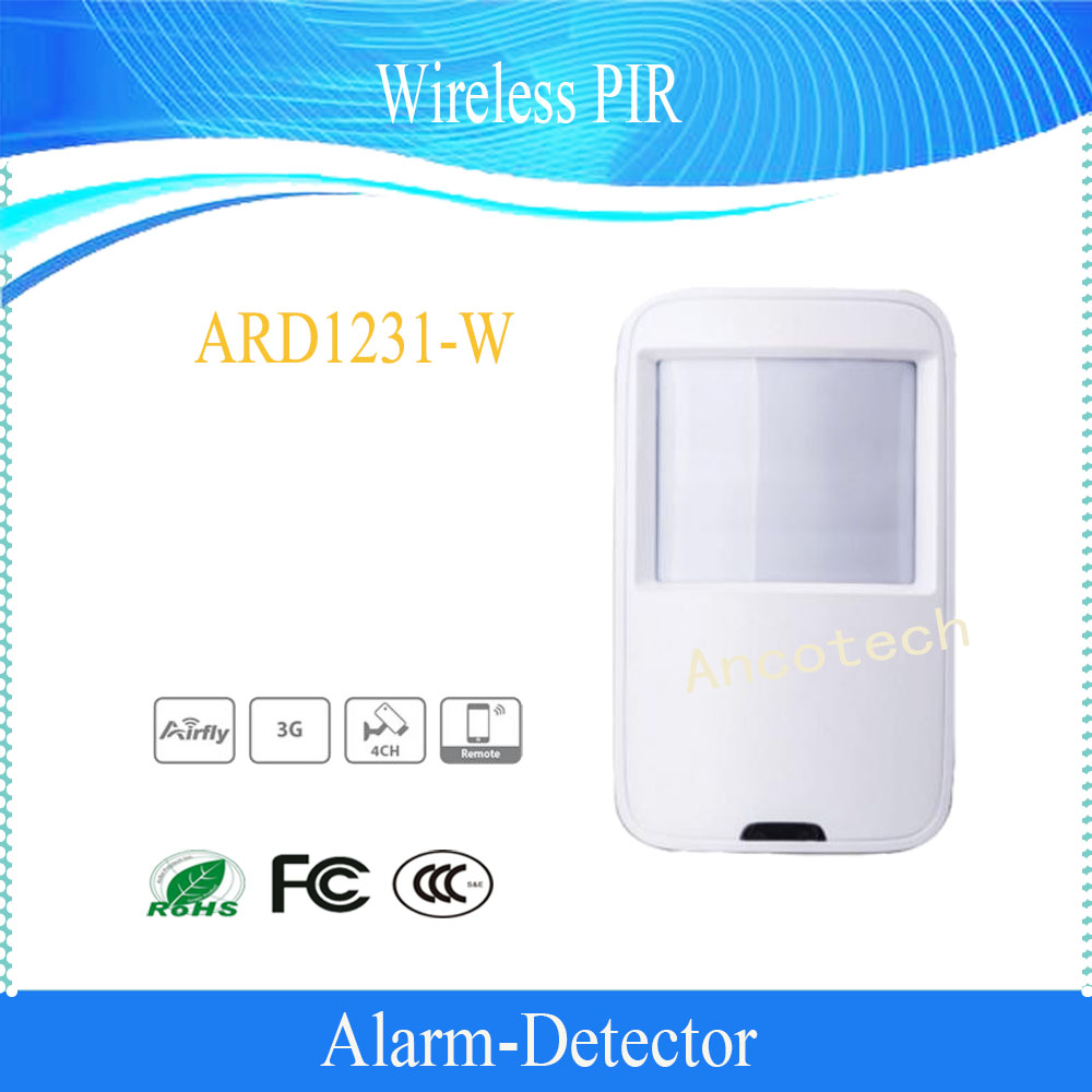 Free Shipping DAHUA 433MHz Wireless PIR Detector For Home Security Alarm System Without Logo (ARD1231-W) 315mhz chuango wireless curtain pir motion detector chuango pir 800 for home dhl free shipping