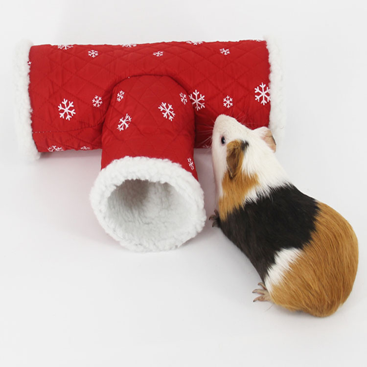 Small Guinea Pig Hamster Toy Tubes Tunnels Warm Hamster Cage House Nest Parrot Bird Cage Hedgehog Chinchilla Bed Pet Supplies