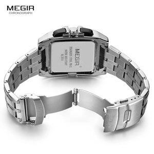 Image 5 - MEGIR ファッションメンズ腕時計トップブランドの高級クォーツ時計男性鋼日付防水スポーツウォッチレロジオ Masculino