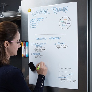 Image 4 - Soft Flexible Magnetic Whiteboard Fridge Magnets Reminder Board Home Kitchen Message Boards Writing Pad Magnetic Marker Eraser