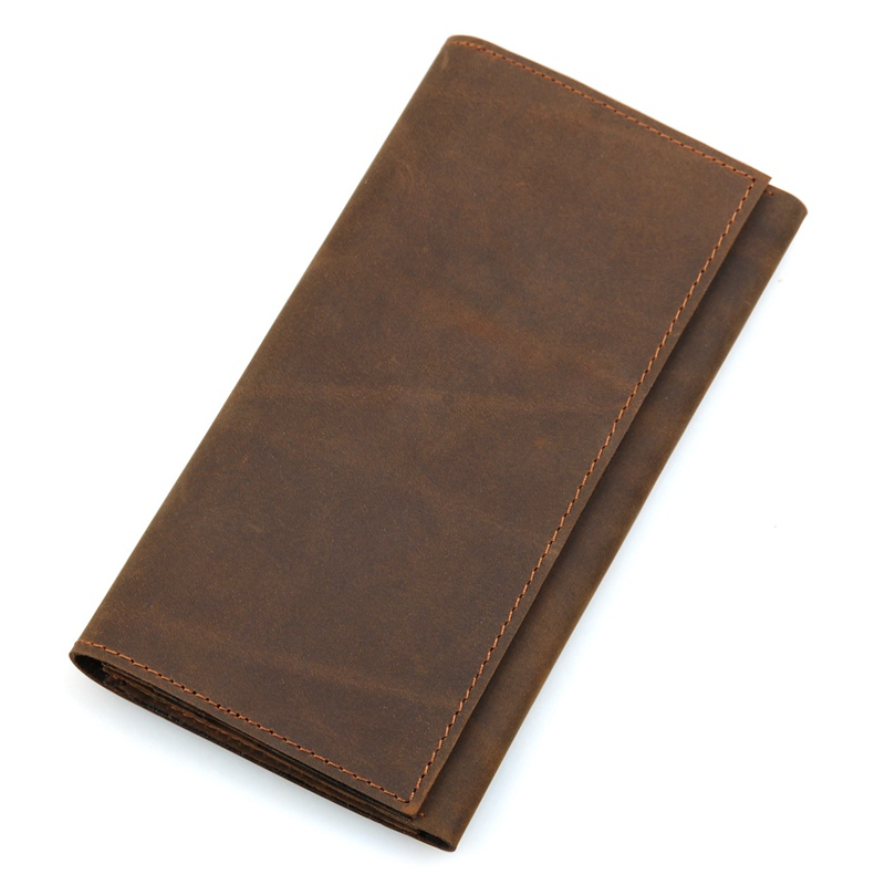 J M D Genuine Leather Long Wallet Credit Card Holder Money Pocket For Men 39 s Mens 8110B in Wallets from Luggage amp Bags