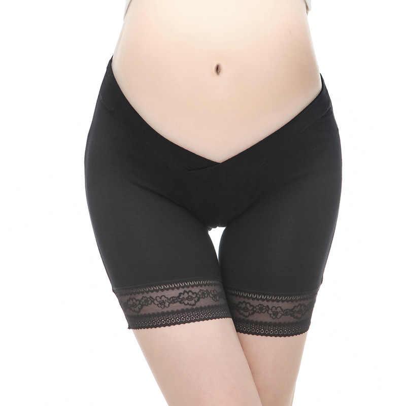 อารมณ์ Moms Maternity กางเกง Maternity เสื้อผ้าชุดชั้นในการตั้งครรภ์กางเกงสำหรับหญิงตั้งครรภ์ต่ำเอวกางเกงขาสั้นความปลอดภัย