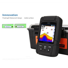 LUCKY FF718LiC Waterproof Fish Finder 2-in-1 Wired&Wireless Transducer Sonar Fishfinder Color LCD Display