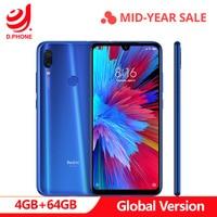 В наличии глобальная версия Xiaomi Redmi Note 7 6,3 полный экран Snapdragon 660 AIE 4 Гб ram 64 Гб rom 4G LTE смартфон 48MP телефон