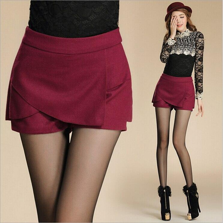Women's Skirt New Fashion Spring Woolen Irregular Solid ...