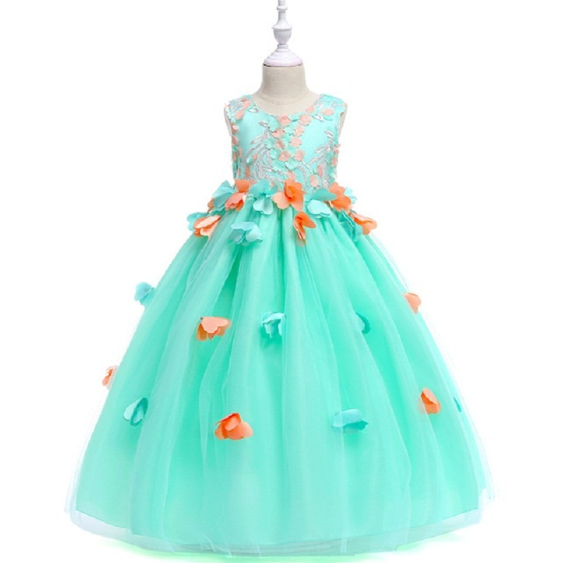 Kids Dress for Girls Wedding Tulle Lace Long Dress Girl Dress 3-13yrs Princess Party dresses  Gown for Teen Children clothesKids Dress for Girls Wedding Tulle Lace Long Dress Girl Dress 3-13yrs Princess Party dresses  Gown for Teen Children clothes