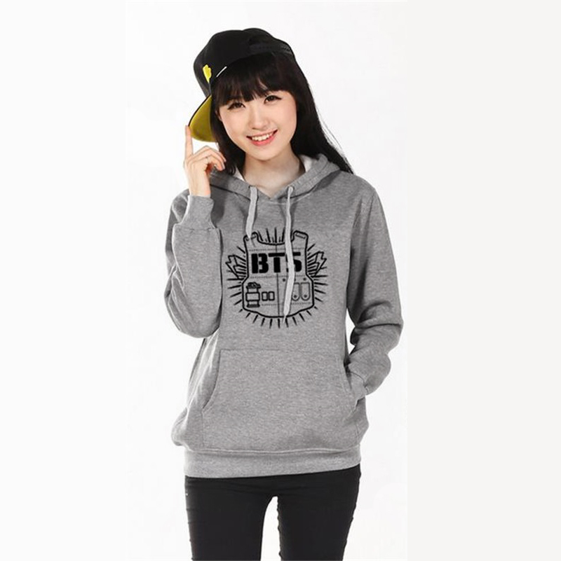 Women hoodie sweatshirt Clothing Hoody Sweatshirts BTS Cotton Black Red Grey Sweatshirts Women Long Sleeve Hoodies jacket