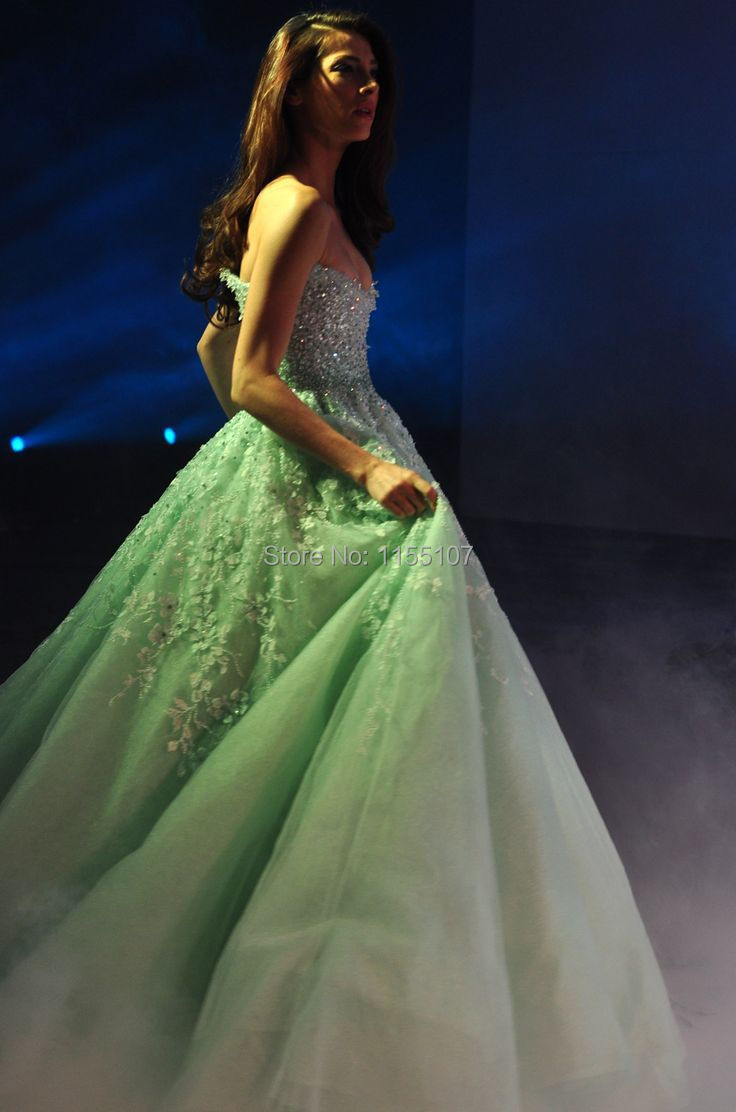 Gorgeous Michael Cinco Lovely Mint Wedding Gowns 2016 Ball Gown ...