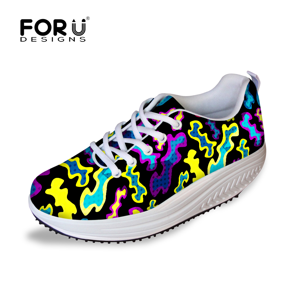 Hot Sale Slimming Wedges Casual Shoes Camouflage Women ...