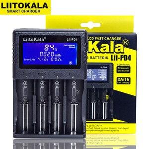 Image 2 - NEW Liitokala Lii PD4 S4 S2 402 202 100 18650 Battery Charger 1.2V 3.7V 3.2V AA21700 NiMH li ion battery Smart Charger+ 5V plug