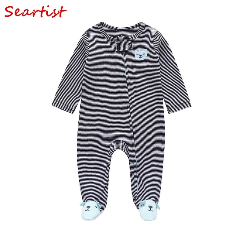 Seartist Newborn Footed Jumpsuit Infant Bebes Footies Body Suit Winter Autumn Jumpsuits Baby Boys Clothes 2019 Rush Sales 25 in Footies from Mother Kids