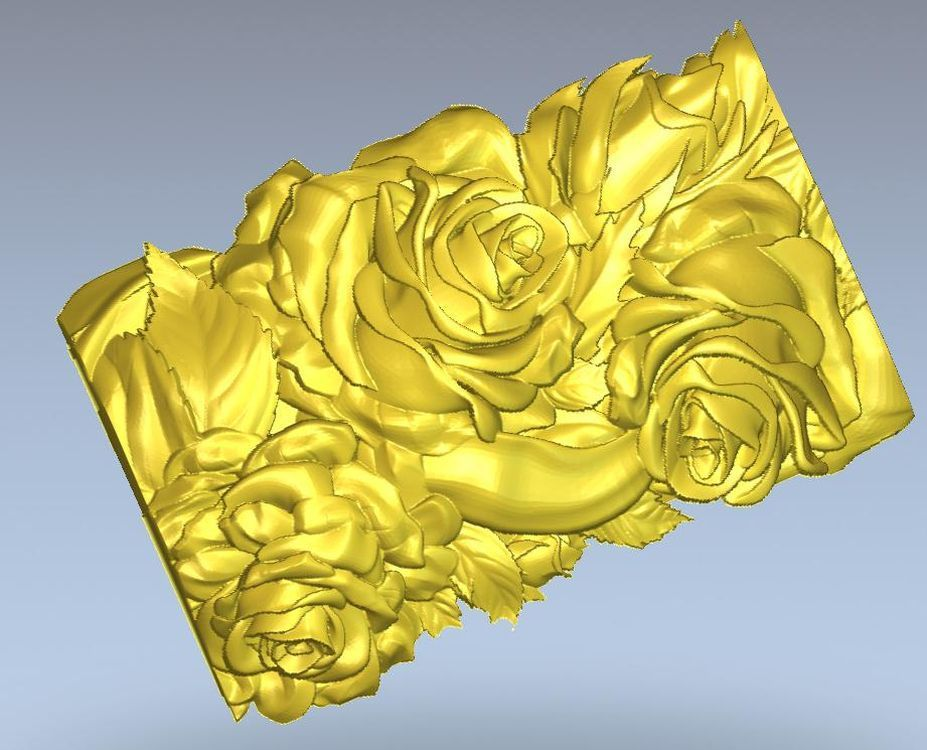 Flower_5 3d Model Relief  For Cnc In STL File Format