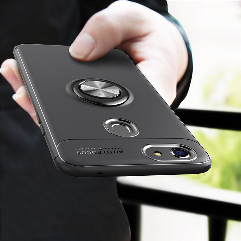 Luxury Magnetic Ring Case For OPPO R15 Dream R17 Pro R9 R11 S Plus A37 A39 A57 A77 F3 A73 F5 A3 A5 A7 F7 F9 K1 Car Holder Cover