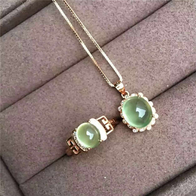 Color treasure crystal jewelry 925 silver inlaid Natural Stone Gemstone Ring Pendant NecklaceColor treasure crystal jewelry 925 silver inlaid Natural Stone Gemstone Ring Pendant Necklace