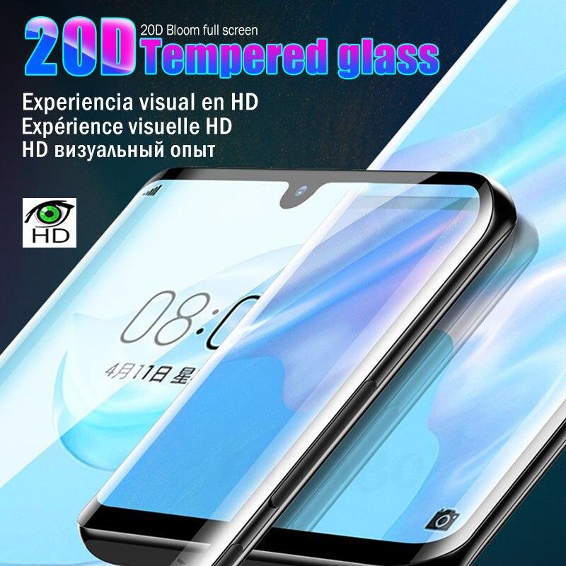 20D Full Cover Tempered Glass For Huawei P30 P20 Lite Mate 10 Pro P Smart 2019 Screen Protector Glass For Huawei Nova 2i 3E Film
