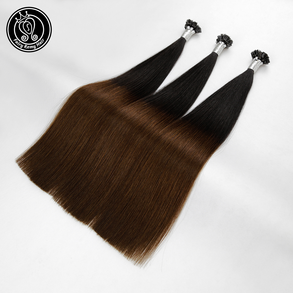 Fairy Remy Hair Double Drawn Remy Flat Tip Human Hair Extensions 0.8g/s 18